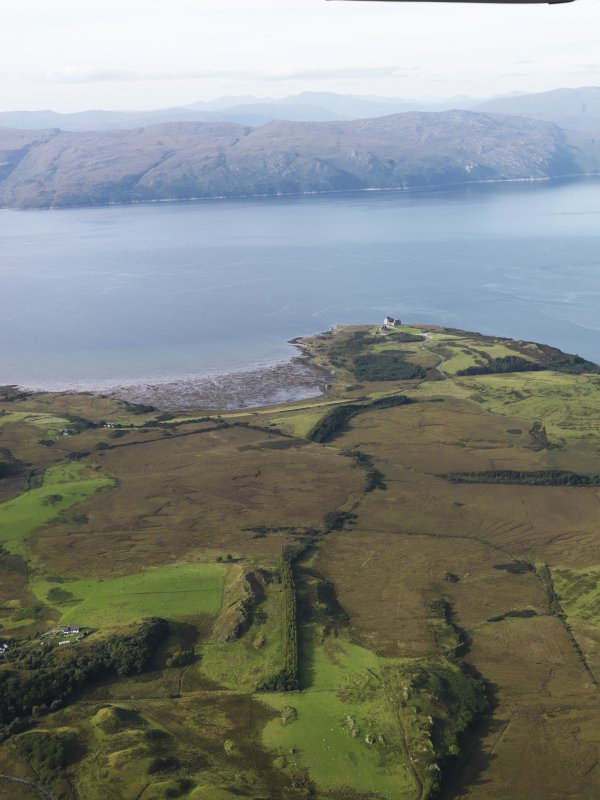 General oblique aerial view of Duart Castle, looking to the N.