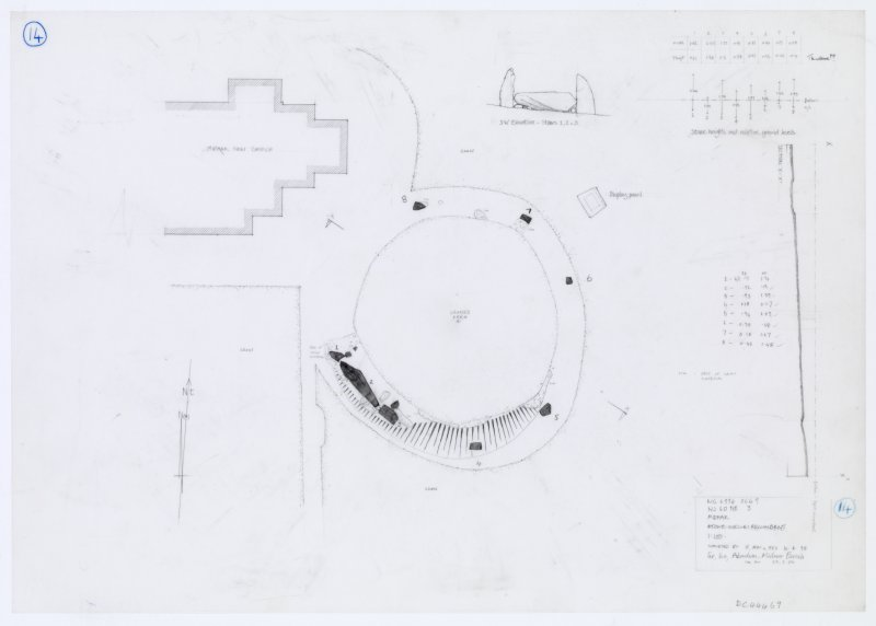 Original field plan of the recumbent stone circle