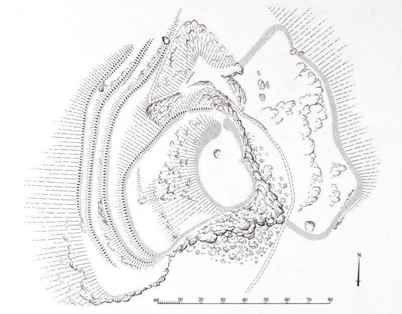 Publication drawing; King's Seat fort.
