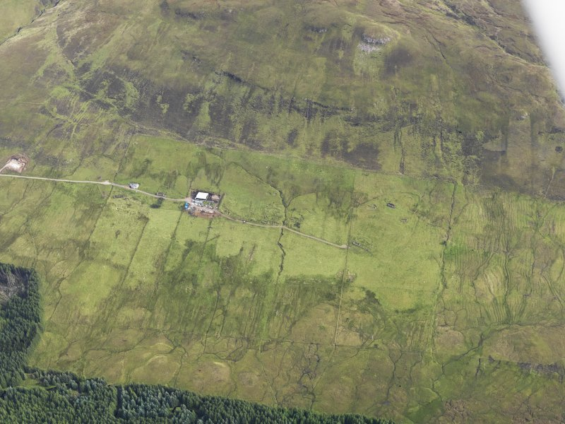 Oblique aerial view of Mugeary, Skye, looking NE.