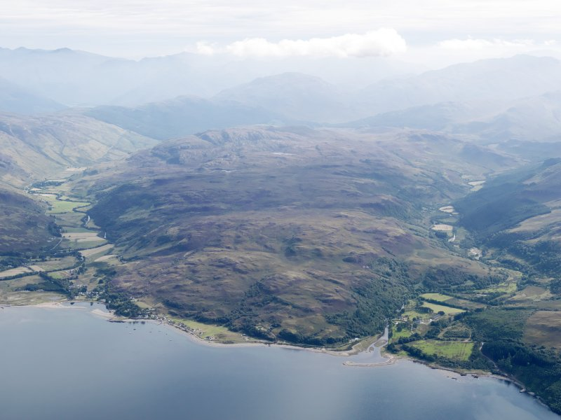 General oblique aerial view of Eilanreach and Glenelg looking ESE.