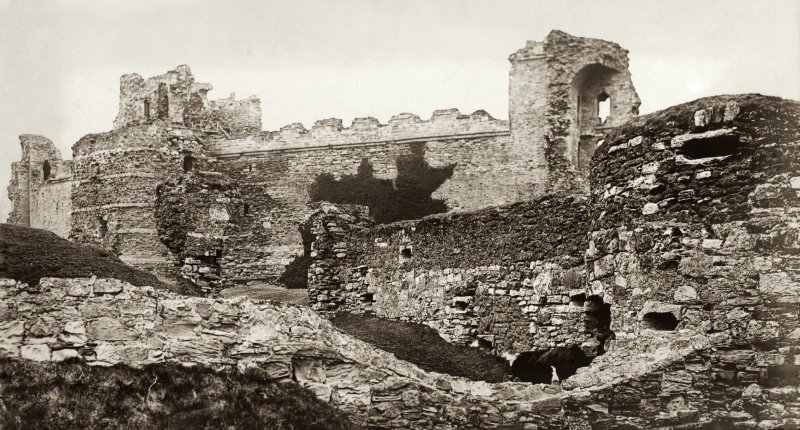 View of Tantallon Castle Titled: 'Tantallon Castle, North Berwick. November 1905'.  PHOTOGRAPH ALBUM No.30: OLD EDINBURGH ALBUM