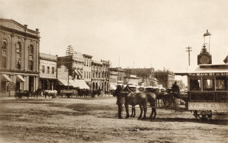 Copy of photograph titled 'Main Street at First South Street, Salt Lake City'