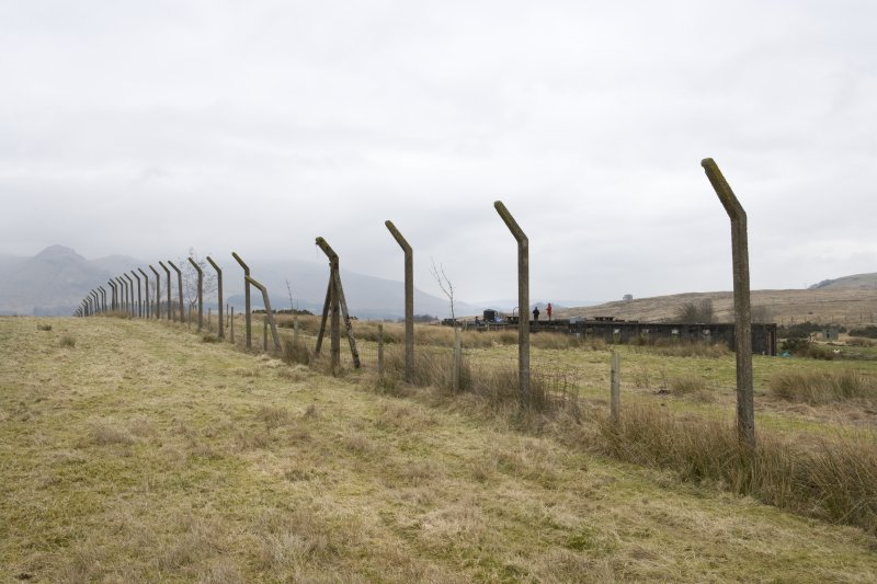 Northern boundary fence. View from W