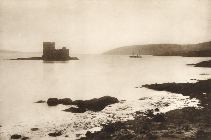 Copy of photograph titled 'Chiasamul Castle, Barra'