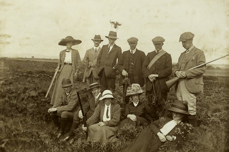 View of a group of people at Williamwood Moss