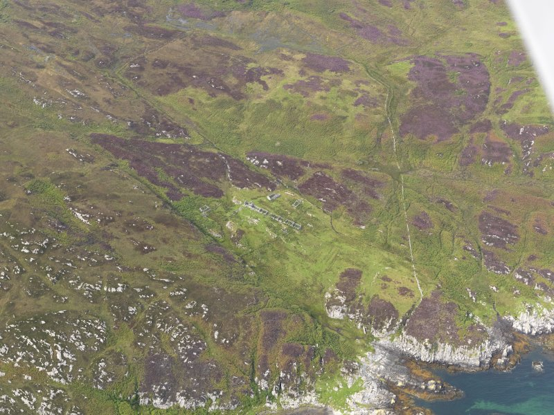 Oblique aerial view of the township of Riasg Buidhe, taken from the SE
