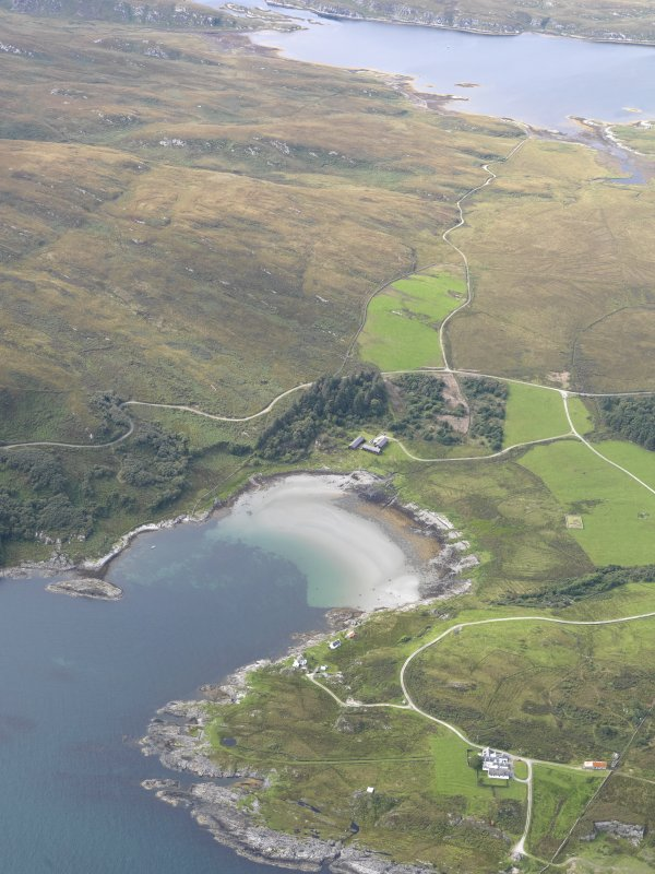 General oblique aerial view of Tarbert, Jura, taken from the ESE.