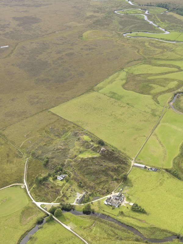 General oblique aerial view of Dunadd, taken from the E.