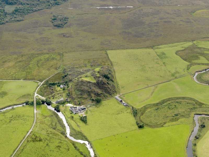 General oblique aerial view of Dunadd, taken from the NE.