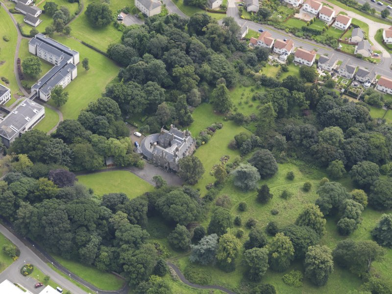 Oblique aerial view of the house taken from the NW.