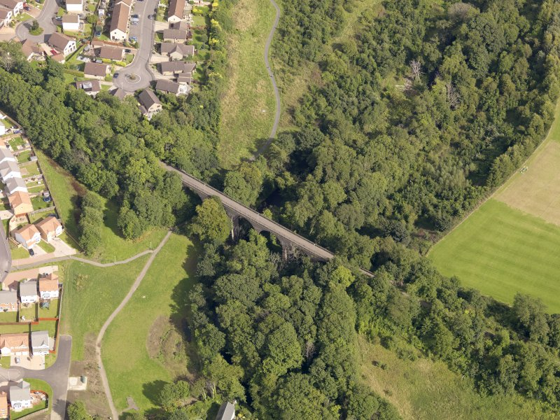 Oblique aerial view of the viaduct taken from the WNW.