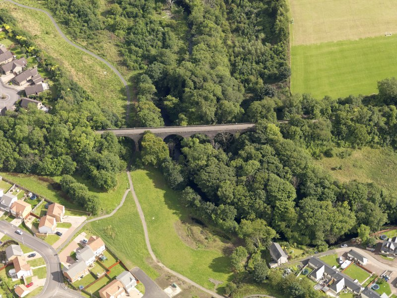 Oblique aerial view of the viaduct taken from the NW.