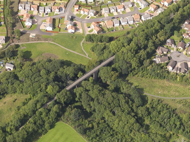 Oblique aerial view of the viaduct taken from the S.