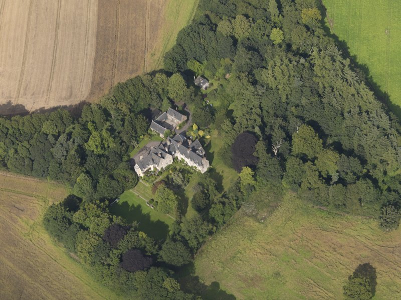 Oblique aerial view of the house taken from the SW.
