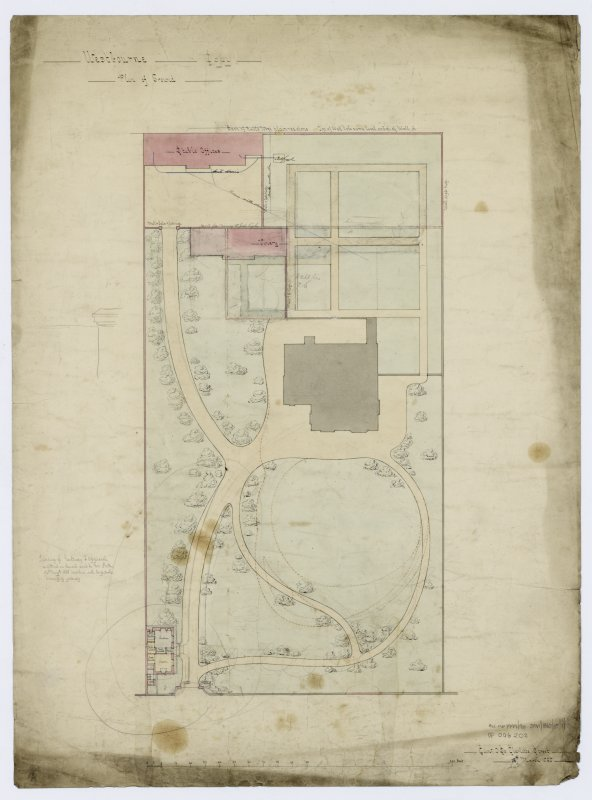 Westbourne, Dollar Road, Tillicoultry. Titled: 'Plan of Ground'