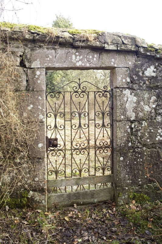 Detail of gate to walled garden