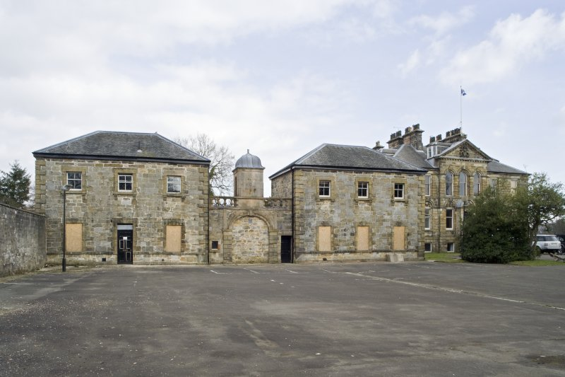 General view of the Pavilions at Cumbernauld House, Cumbernauld, taken from the South-West.