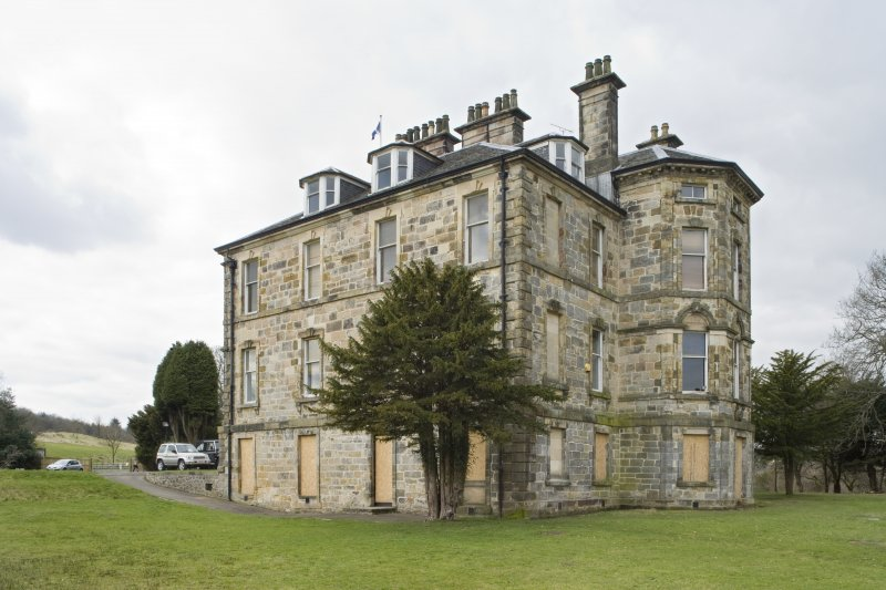 View of Cumbernauld House, Cumbernauld, taken from the East. The image shows the South-East and North-East elevations.