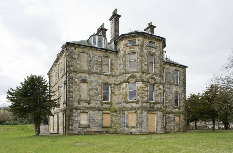 View of the North-Eastern elevation of Cumbernauld House, Cumbernauld, taken from the East-North-East.