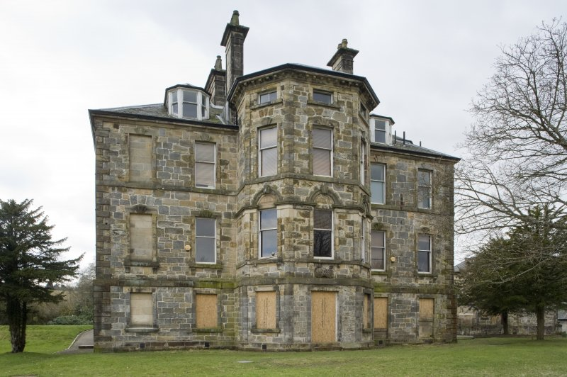 View of the North-Eastern elevation of Cumbernauld House, Cumbernauld, taken from the North-East.