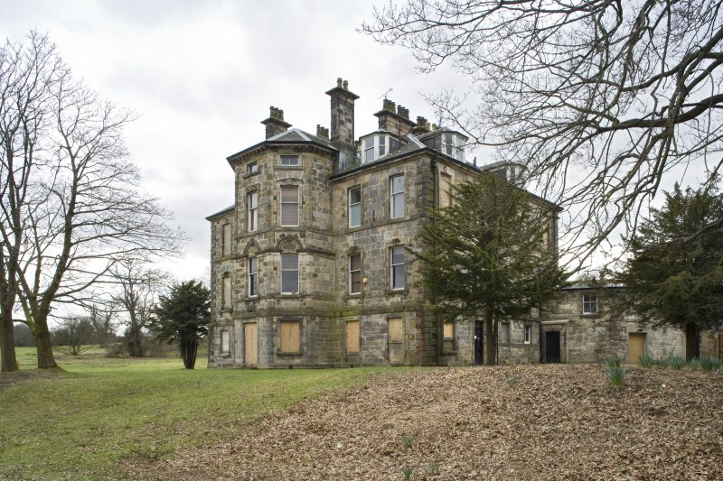 View of the North-East elevation of Cumbernauld House, taken from the North.