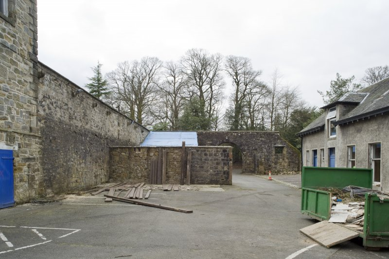 View of the courtyard to the West of Cumbernauld House, taken from the North-East.