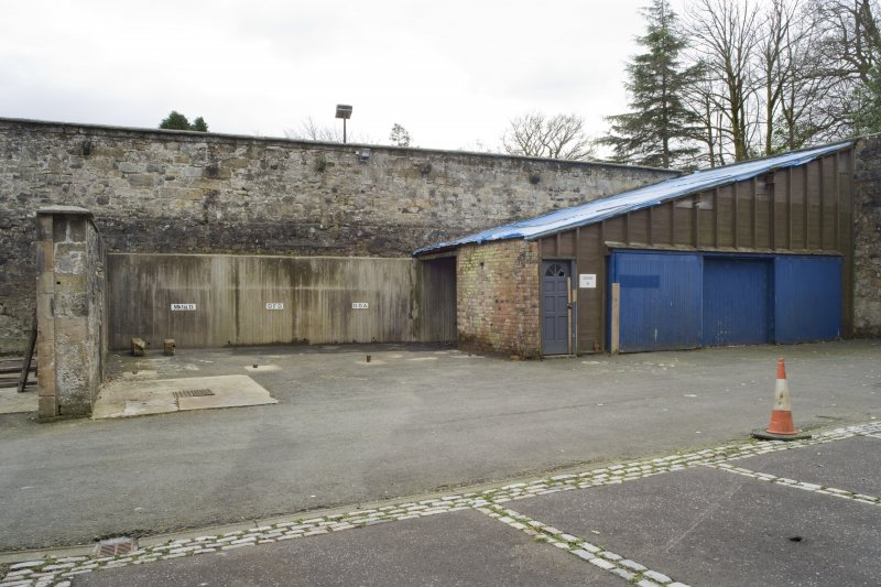 View of the courtyard to the West of Cumbernauld House, taken from the North.