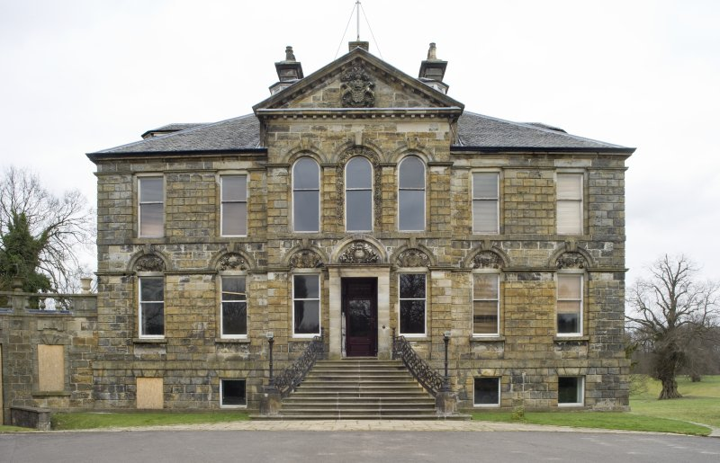 View of the South-West (principle) elevation of Cumbernauld House, Cumbernauld, taken from the South-West.