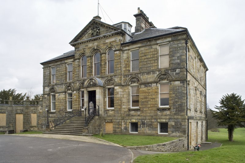 View of the South-West (principle) elevation of Cumbernauld House, Cumbernauld, taken from the South-South-West.