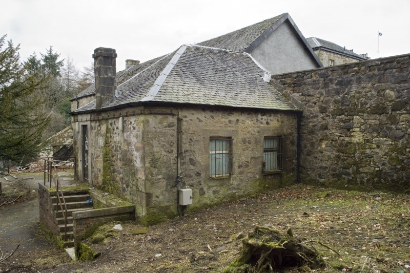 View of a courtyard outbuilding at Cumbernauld House, Cumbernauld, taken from the West-South-West.