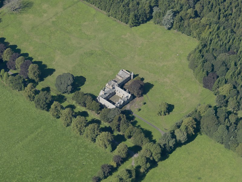 General oblique aerial view of the Panmure  Estate, centred on the house, taken from the SE.