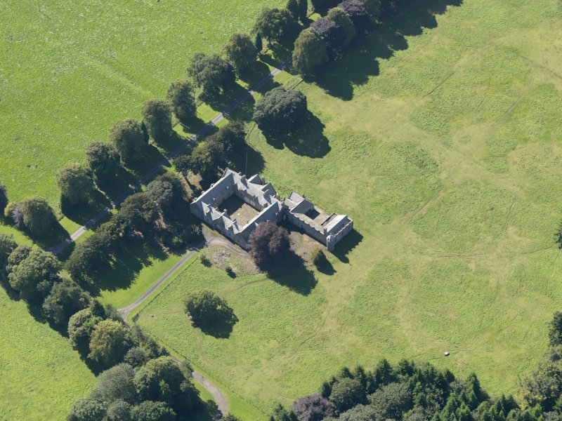 General oblique aerial view of the Panmure  Estate, centred on the house, taken from the NE.