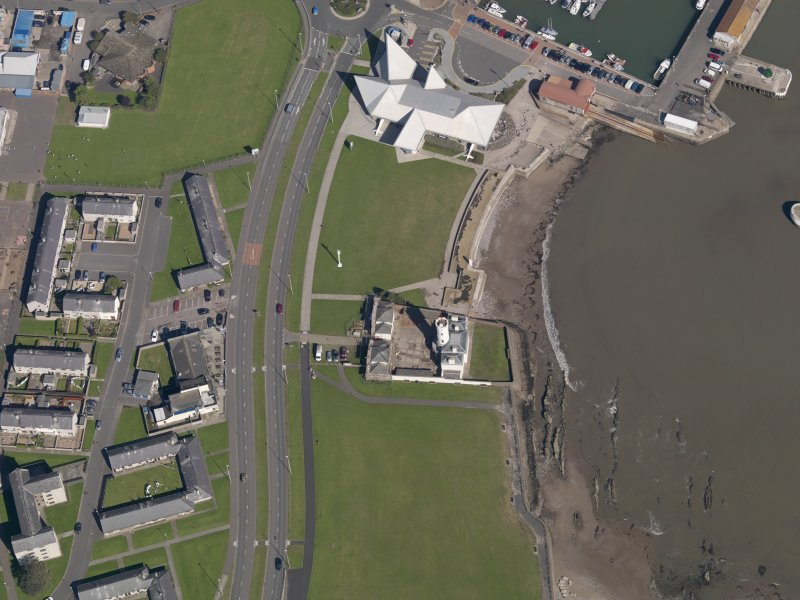 Oblique aerial view of the lighthouse, taken from the SSW.