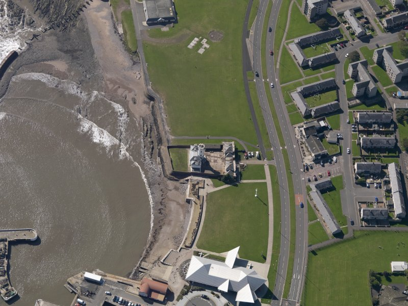 Oblique aerial view of the lighthouse, taken from the NE.