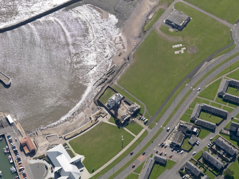 Oblique aerial view of the lighthouse, taken from the N.