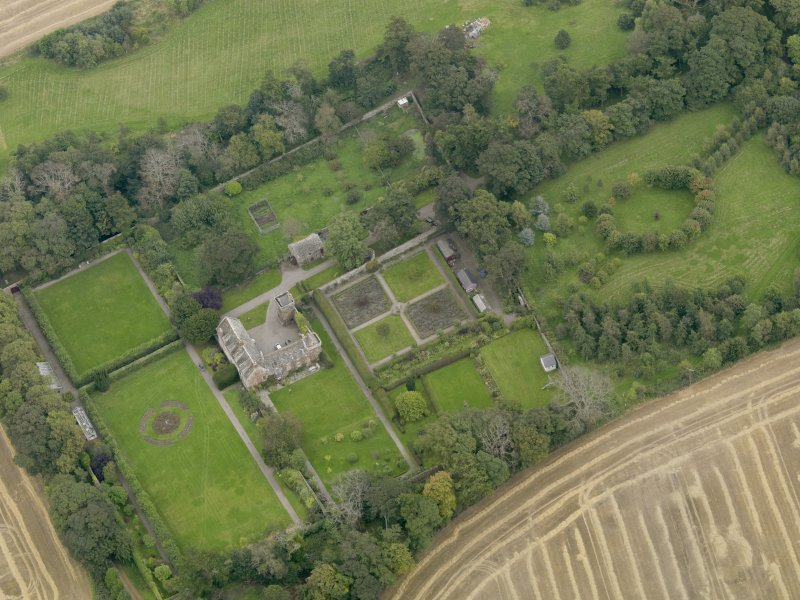 General oblique aerial view of the Usan estate, centred on Usan House, taken from the W.