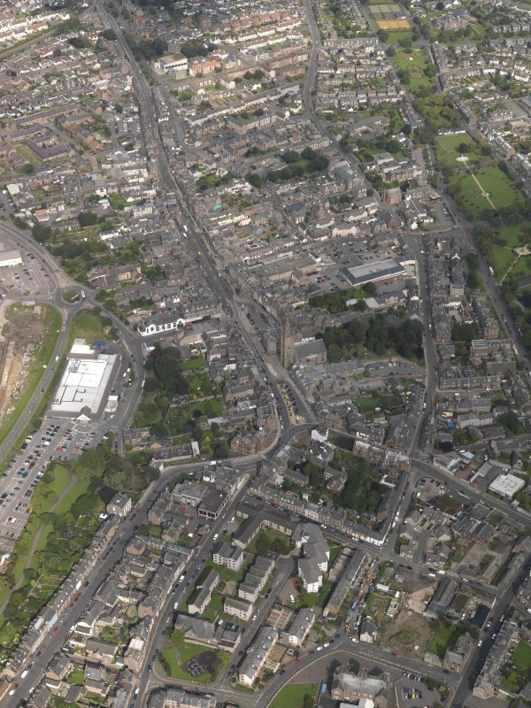 General oblique aerial view of  Montrose centred on the High Street, taken from the S.