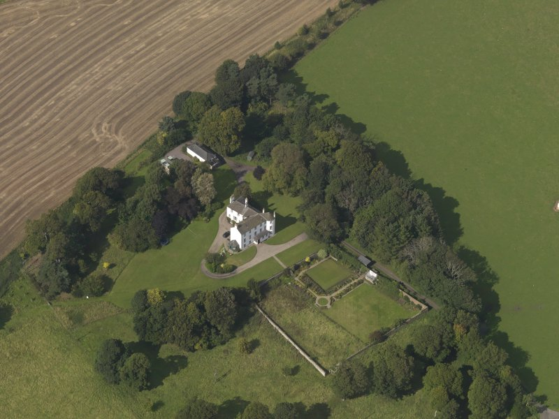 Oblique aerial view of Kinnaber House, taken from the SSE.