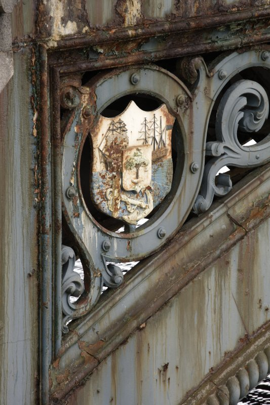 Detail of shield on ironwork