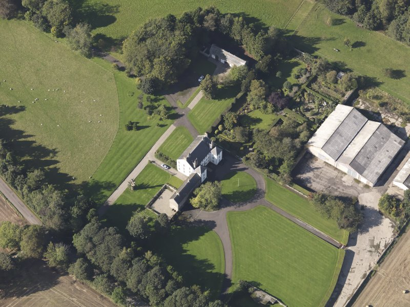 Oblique aerial view of Gallery Laird's House, taken from the SE.