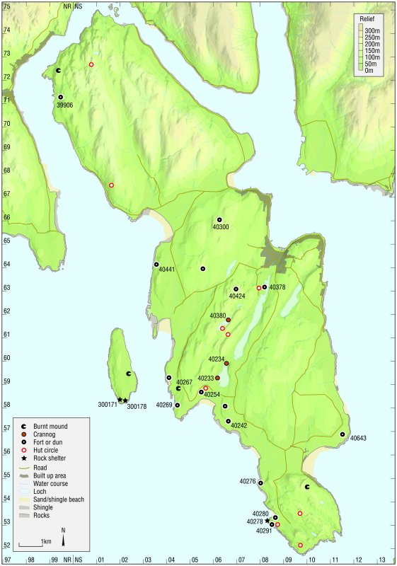 Map - Distribution of sites and artefacts of the Late Bronze Age and Iron Age.