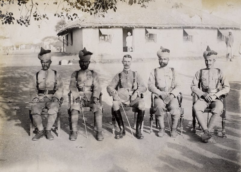 Group of soldiers, possibly in India.   PHOTOGRAPH ALBUM NO.128: MARSHALL ALBUM I