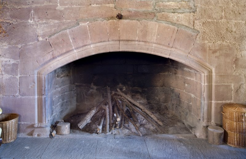 Interior. 2nd floor. Great Hall. Fireplace. Detail