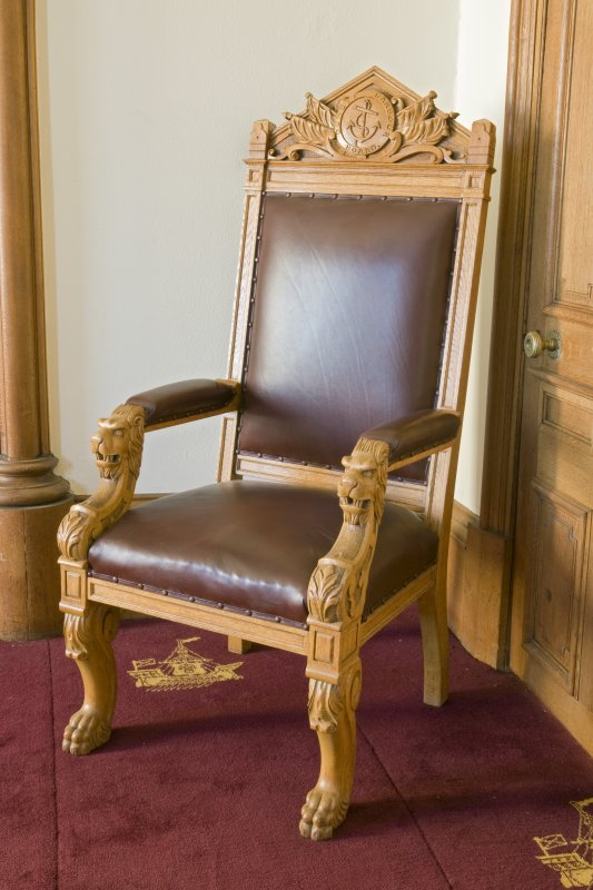 Harbour Chambers. Interior. 1st floor. Boardroom. Typical armchair. Detail