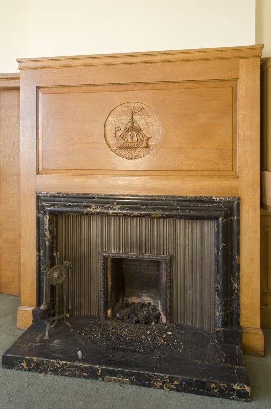 Harbour Chambers .Interior. Ground floor.  Directors office. Fireplace. Detail