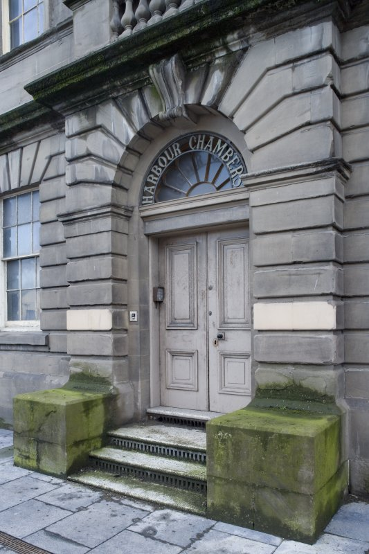 Harbour Chambers entrance. Detail
