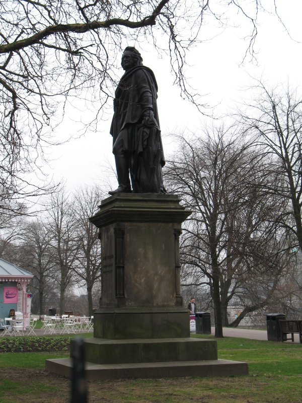 View of statue of John Wilson from NW.
