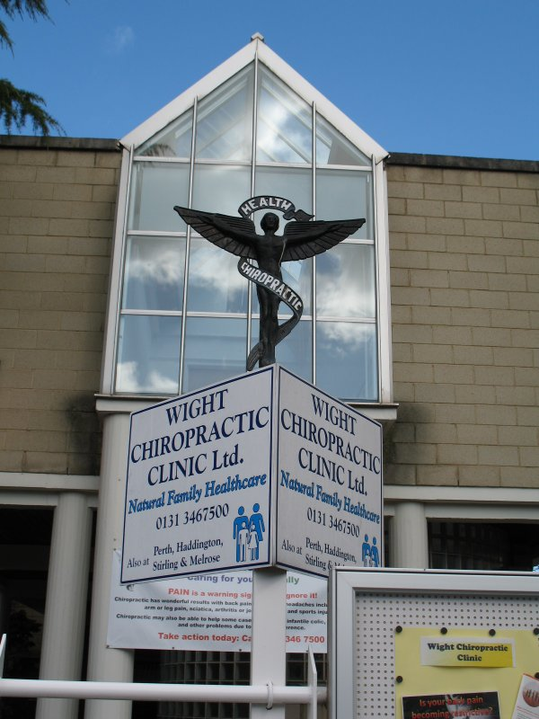 View of Wight Chiropractic Clinic sign.