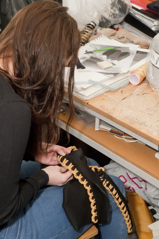View of student working within the studio space of the Textiles department in Newbery Tower